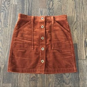 J.Crew Courduroy skirt with pockets